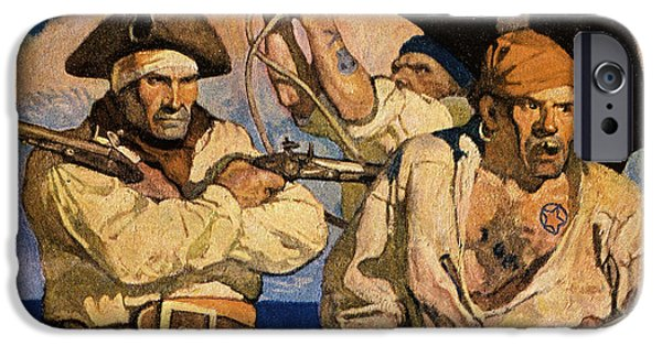 Roger iPhone Cases - Wyeth: Treasure Island iPhone Case by Granger