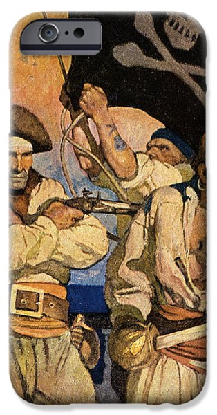 WYETH: TREASURE ISLAND iPhone Case by Granger