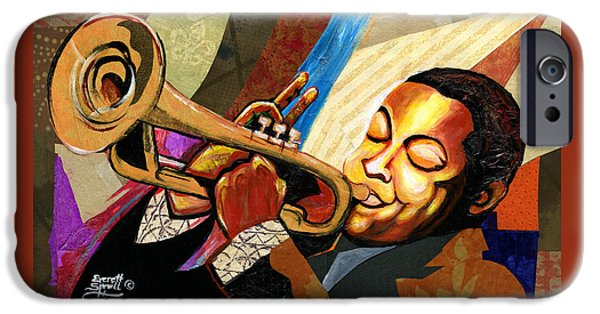African-american Institute iPhone Cases - Wynton Marsalis iPhone Case by Everett Spruill