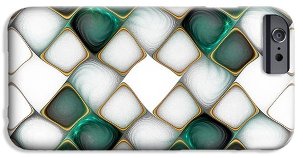 Abstract Digital Art iPhone Cases - X Marks the Spot iPhone Case by Amanda Moore