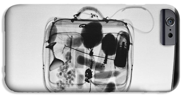 Airline Industry iPhone Cases - X-ray Of Suitcase iPhone Case by Science Source