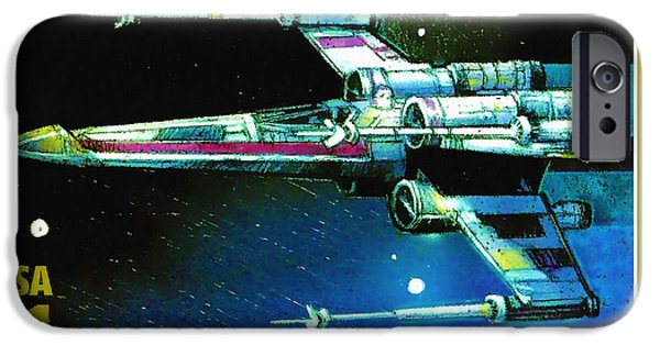 Xwing iPhone Cases - X-wing Starfighter iPhone Case by Lanjee Chee