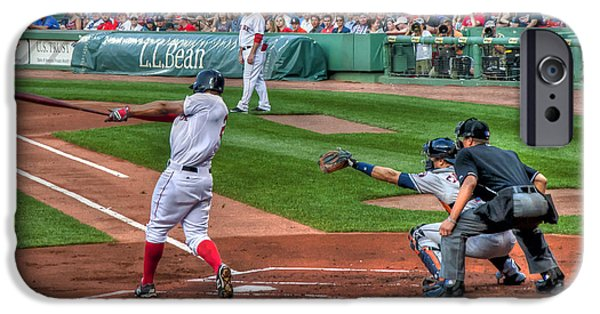 Fenway Park iPhone Cases - Xander Bogaerts - Boston Red Sox iPhone Case by Joann Vitali