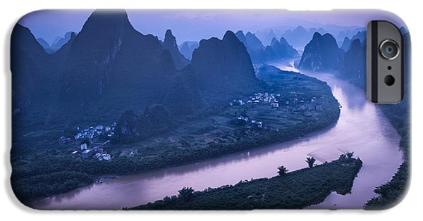 Mist iPhone Cases - Xiang Gong Shan Sunrise iPhone Case by Ken Koskela