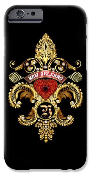 Jambalaya iPhone Cases - Y-Fleur-de-lis New Orleans Transparent Back Pick Color iPhone Case by Bill Campitelle