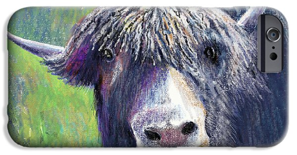 Yak Digital Art iPhone Cases - Yakity Yak iPhone Case by Arline Wagner