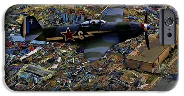 Yak Digital Art iPhone Cases - Yakovlev Yak 3 Soviet iPhone Case by Tommy Anderson