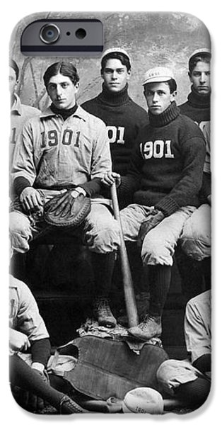 YALE BASEBALL TEAM, 1901 iPhone Case by Granger