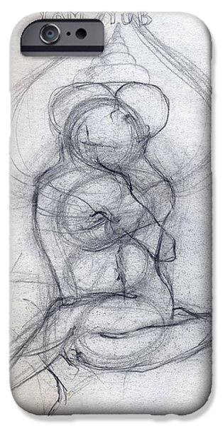 Abstract Digital Drawings iPhone Cases - Yam Yub Drawing iPhone Case by Stephen Carver