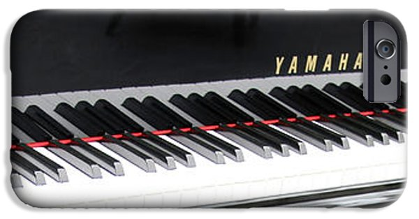 Cora Wandel iPhone Cases - Yamaha Keyboard Reflections iPhone Case by Cora Wandel