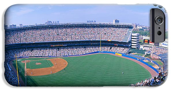 Baseball Stadiums iPhone Cases - Yankee Stadium NY Yankees V. Tampa iPhone Case by Panoramic Images