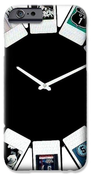 yankees Clock iPhone Case by Paul Van Scott