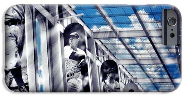 Baseball Stadiums iPhone Cases - Yankee Immortals IV iPhone Case by Aurelio Zucco
