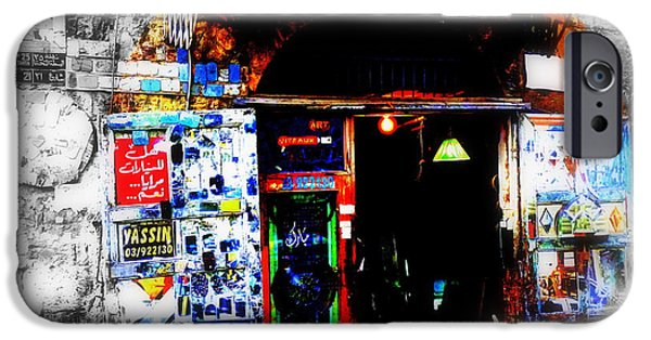 Recently Sold -  - Abstract Digital iPhone Cases - Yassin Glass Maker in Beirut iPhone Case by Funkpix Photo Hunter