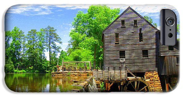 Grist Mill iPhone Cases - Yates Mill iPhone Case by Rollin Jewett