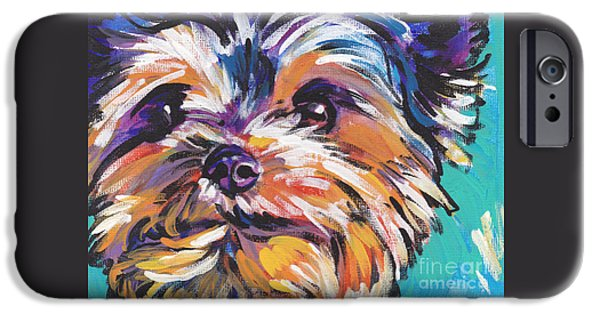 Puppies iPhone Cases - Yay Yorkie  iPhone Case by Lea