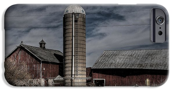 Agriculture iPhone Cases - Ye Old Barn iPhone Case by Deborah Klubertanz