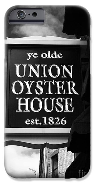 ye olde Union Oyster House iPhone Case by John Rizzuto