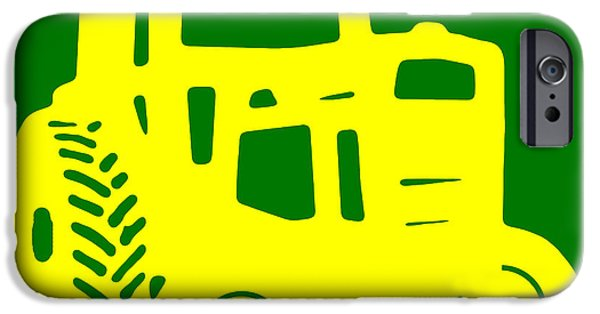 Machinery iPhone Cases - Yellow and Green Emblem Design iPhone Case by Edward Fielding