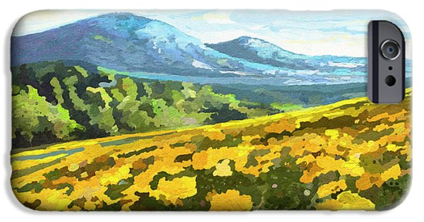 Garden Scene Paintings iPhone Cases - Yellow blanket iPhone Case by Anthony Mwangi
