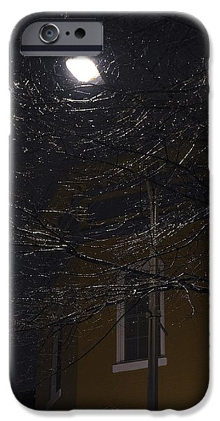 Night Lamp iPhone Cases - Yellow iPhone Case by Brian Archer