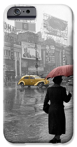 Yellow Cabs New York 2 iPhone Case by Andrew Fare