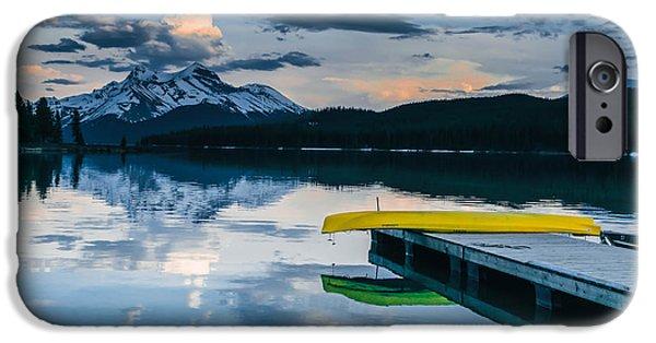 Canoe iPhone Cases - Yellow Canoe iPhone Case by Britten Adams