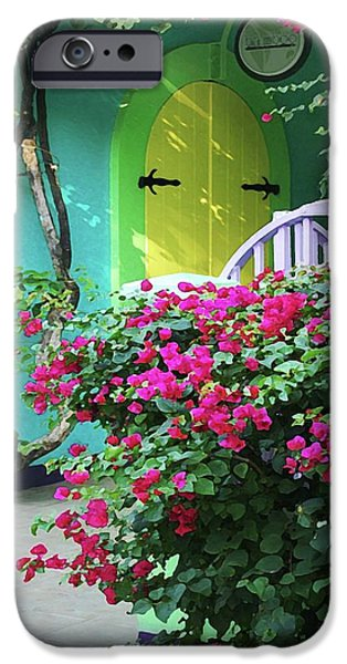Michael Thomas iPhone Cases - Yellow Door iPhone Case by Michael Thomas