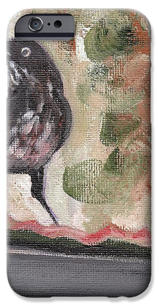 Yellow Eyed Bird iPhone Case by Sarah Lynch