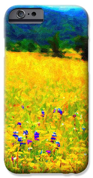 Yellow Hills iPhone Case by Wingsdomain Art and Photography
