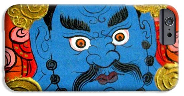 Tibetan Buddhism iPhone Cases - Yellow Jambhala 10 iPhone Case by Lanjee Chee