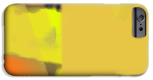 Shape iPhone Cases - Yellow Orange Abstract iPhone Case by Dee Flouton