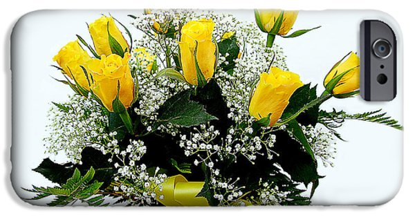 iPhone Cases - Yellow Roses Bouquet iPhone Case by Thanh Nguyen