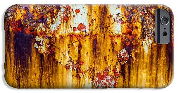 David iPhone Cases - Yellow Rust iPhone Case by David Hare