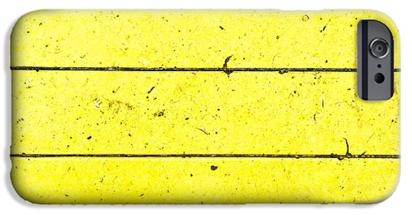 Asphalt iPhone Cases - Yellow stone iPhone Case by Tom Gowanlock