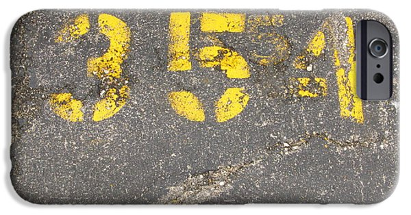 Asphalt iPhone Cases - Yellow Three Five Five Four iPhone Case by Bill Tomsa