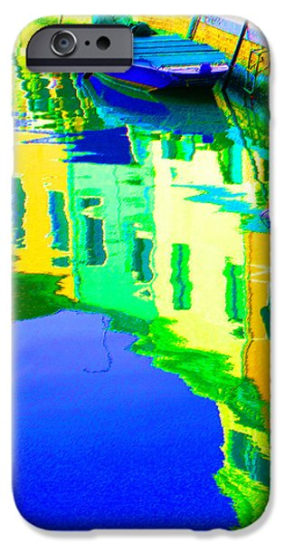 Yellow Pastels iPhone Cases - Yellow Toned Reflections iPhone Case by Donna Corless