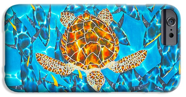 Animals Tapestries - Textiles iPhone Cases - Yellowfin Frenzy iPhone Case by Daniel Jean-Baptiste