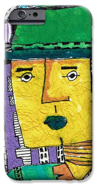 Caricature Tapestries - Textiles iPhone Cases - Yellowman iPhone Case by Don Koester