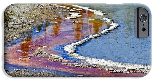 Alga iPhone Cases - Yellowstone Abstract I iPhone Case by Teresa Zieba