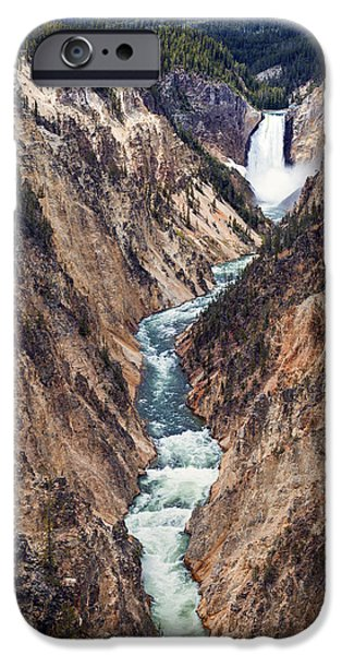 Yellowstone iPhone Cases - Yellowstone Falls iPhone Case by Robert Bynum