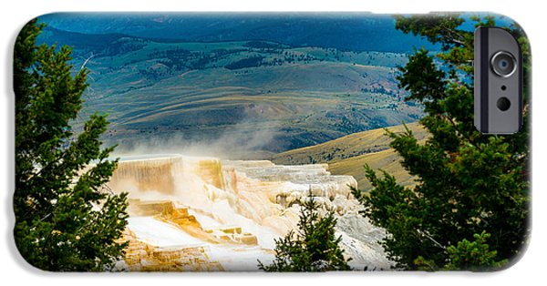 Pines iPhone Cases - Yellowstone Hot Springs iPhone Case by Joni Sue Thum