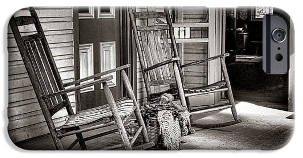 Rocking Chairs Photographs iPhone Cases - Yesteryear iPhone Case by Olivier Le Queinec