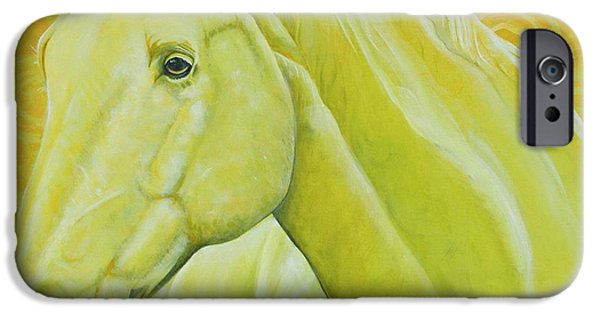 American Quarter Horse iPhone Cases - Yet to be Named iPhone Case by Christine Belt