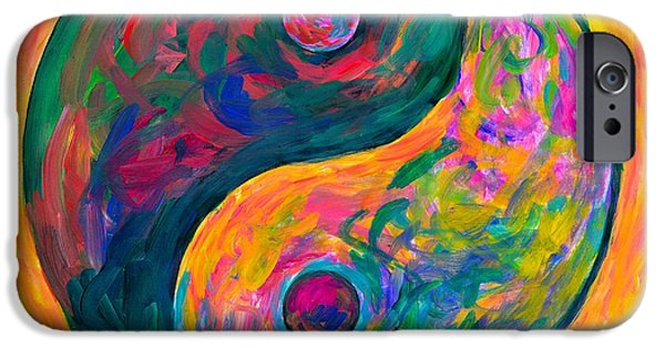 Abstract Expressionist iPhone Cases - Yin Yang Flow iPhone Case by Kendall Kessler
