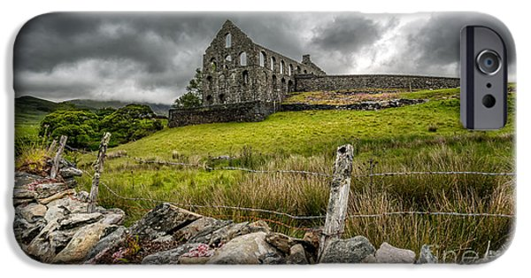 Ruin iPhone Cases - Ynys-y-Pandy Slate Mill iPhone Case by Adrian Evans