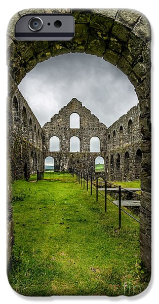 Ruins iPhone Cases - Ynysypandy Slate Mill iPhone Case by Adrian Evans