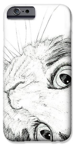Kobe Drawings iPhone Cases - Yo iPhone Case by Takahiro Yamada