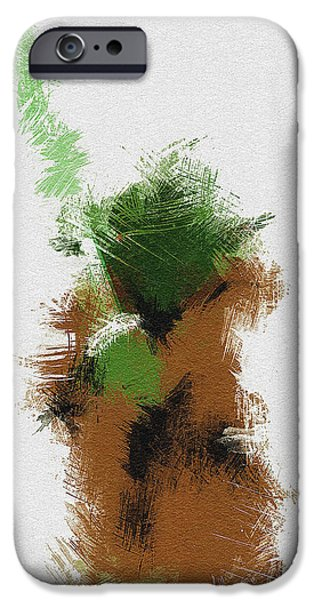 Character Portraits Digital Art iPhone Cases - Yoda iPhone Case by Miranda Sether