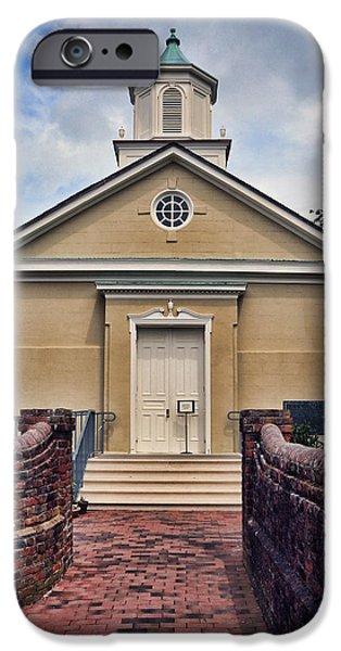 Yorktown iPhone Cases - York-Hampton Parish Church iPhone Case by Stephen Stookey
